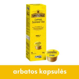 Juodosios arbatos kapsulės Twinnings su citrinų aromatu CAFFITALY sistemoms