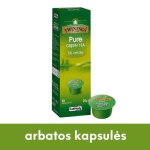 Caffitaly žaliosios arbatos kapsulės Twinnings